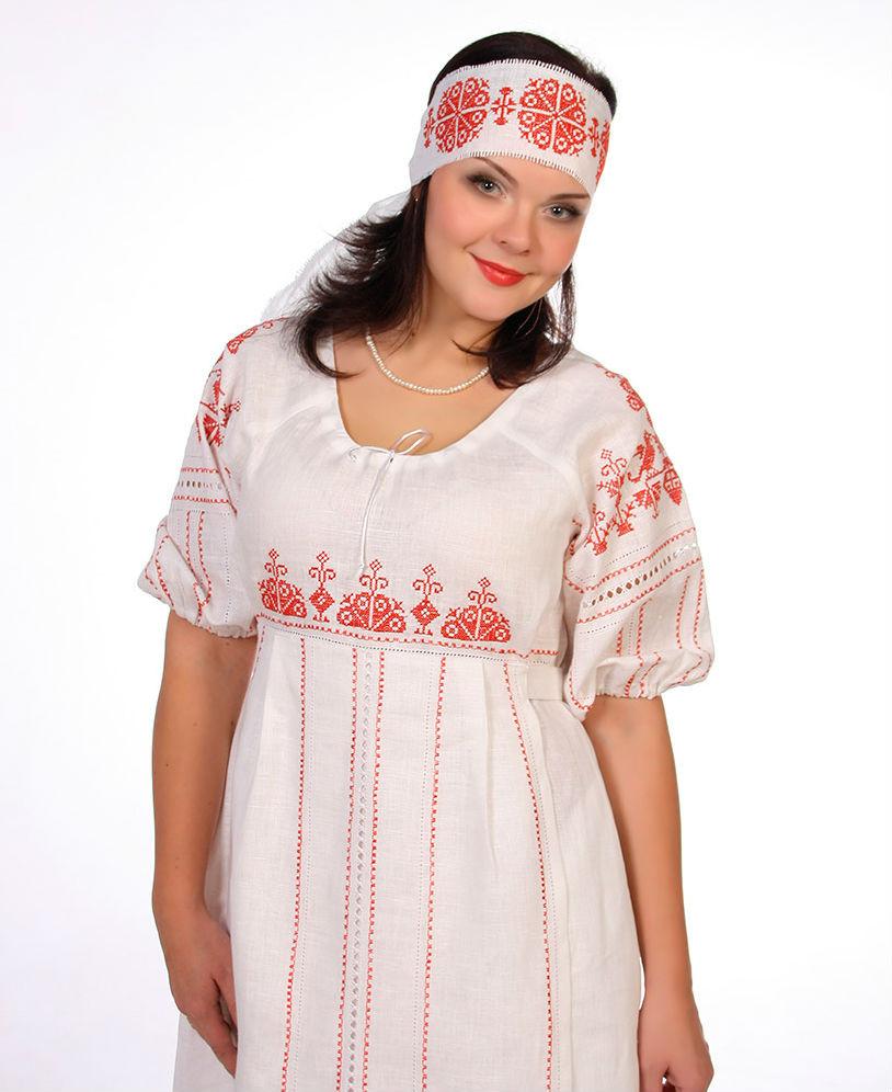 Купить Льняное платье Россиянка