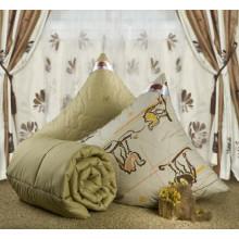 """Одеяло зимнее """"Ночь"""" (верблюжья шерсть, тик)"""