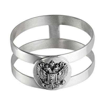 "Кольцо для салфетки с гербом серебряное ""930625"""
