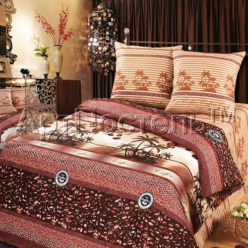 Постельное белье Кофе (бязь) 2 спальный с Евро простынёйПРЕМИУМ<br>Размер: 2 спальный с Евро простынёй<br><br>Высота: 8<br>Размер RU: 2 спальный с Евро простынёй