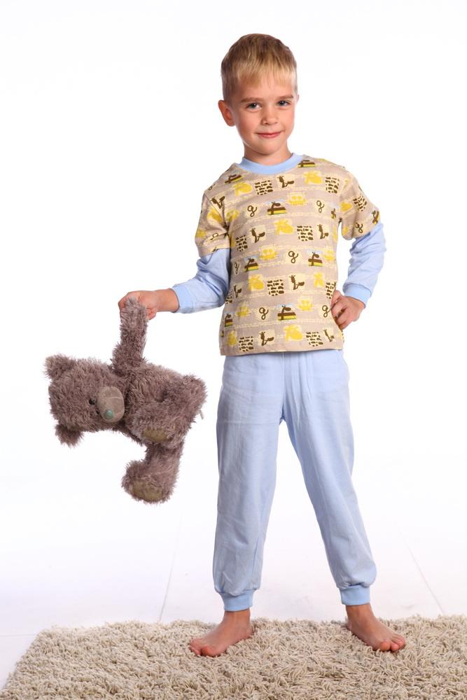 Пижама детская СашкаПижамы<br>Размер: 24<br><br>Принадлежность: Детская одежда<br>Комплектация: Брюки, кофта<br>Возраст: Дошкольник (1-6 лет)<br>Пол: Мальчик<br>Основной материал: Кулирка<br>Страна - производитель ткани: Россия, г. Фурманов<br>Вид товара: Детская одежда<br>Материал: Кулирка<br>Сезон: Круглогодичный<br>Длина: 18<br>Ширина: 12<br>Высота: 7<br>Размер RU: 24
