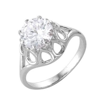 Кольцо серебряное 2386464бСеребряные кольца<br>Вес  2,94<br>Вставка  фианит<br>Покрытие  без покрытия Размер: 18<br><br>Высота: 3<br>Размер RU: 18