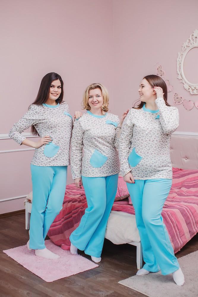 Пижама женская ЕвдораПижамы<br>Размер: 54<br><br>Принадлежность: Женская одежда<br>Основной материал: Футер<br>Вид товара: Одежда<br>Материал: Футер с начесом<br>Длина рукава: Длинный<br>Длина: 18<br>Ширина: 12<br>Высота: 7<br>Размер RU: 54