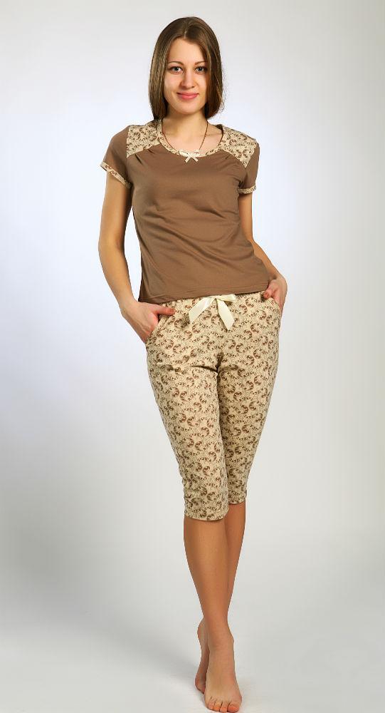 Пижама женская БессоницаПижамы<br>Удобный топ с короткими рукавами в классическом стиле декорирован кокеткой и складочками.<br>На талии коротких брючек мягкая резинка,украшенная атласным бантом.<br>Небольшие боковые карманы добавляют модели практичность и определенный шарм Размер: 50<br><br>Принадлежность: Женская одежда<br>Основной материал: Кулирка<br>Вид товара: Одежда<br>Материал: Кулирка<br>Состав: 100% хлопок<br>Длина: 19<br>Ширина: 10<br>Высота: 4<br>Размер RU: 50