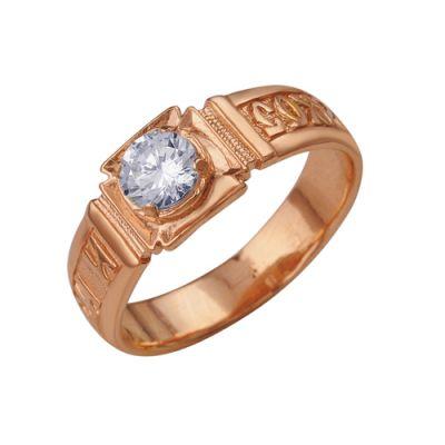 Кольцо серебряное 2382404Серебряные кольца<br>Вес  3,64<br>Вставка  Фианит;<br>Покрытие  золочение Размер: 19.5<br><br>Высота: 3<br>Размер RU: 19.5