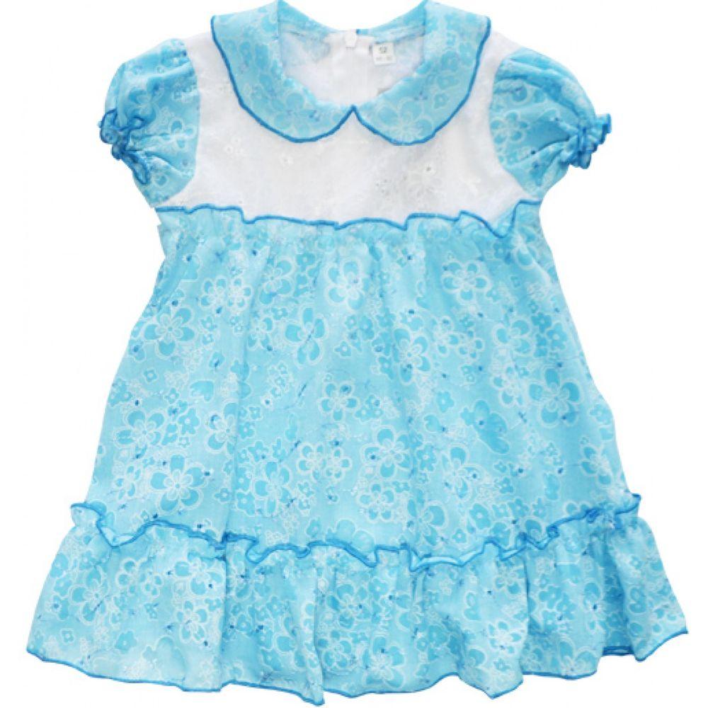 Платье детское АнгелочекПлатья<br>Прекрасное платье - о чем еще может мечтать ваша маленькая принцесса, когда за окном стоит жаркое солнечное лето?! Правильно, ни о чем. Поэтому мы спешим представить вашему вниманию платье для девочек Ангелочек.  Данное платье выполнено в очень удобном фасоне, который позволяет маленькой девочке выглядеть превосходно за счет пышной юбки, украшающей платье. Изделие не стесняет движений и позволяет девочке чувствовать непередаваемый комфорт.<br> Дизайн платья Ангелочек выполнен в нежно-голубой расцветке в цветочек, который не тускнеет даже после многочисленных стирок при высоких температурах. Размер: 28<br><br>Принадлежность: Детская одежда<br>Возраст: Дошкольник (1-6 лет)<br>Пол: Девочка<br>Основной материал: Батист<br>Страна - производитель ткани: Россия, г. Иваново<br>Вид товара: Детская одежда<br>Материал: Батист<br>Состав: 80% полиэстер, 20% хлопок<br>Длина: 19<br>Ширина: 12<br>Высота: 5<br>Размер RU: 28