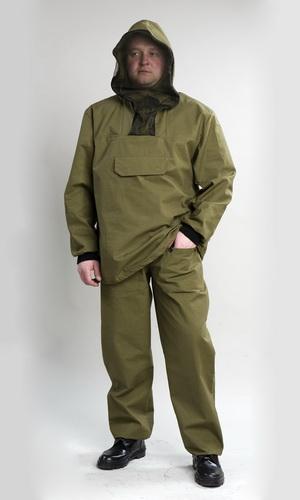 Костюм противоэнцефалитный Зверобой (палатка)Для туристов<br>Костюм противоэнцефалитный состоит из куртки и брюк. Куртка с капюшоном, оснащена противомоскитной сеткой на молнии, убирающейся в специальный потайной карман, с прорезным карманом на груди, застёгивающимся на тесьму-молнию, с прикрывающим клапаном, рукав втачной, длинный, с трикотажным манжетом. Брюки прямые, на поясе со шлёвками, стянутом эластичной тесьмой, по бокам карманы с отрезным бочком и накладными карманами на передней части бедра, по низу ширина брюк регулируется эластичным тесьмой. Размер: 44-46<br><br>Принадлежность: Мужская одежда<br>Основной материал: Палатка<br>Страна - производитель ткани: Россия, г. Иваново<br>Вид товара: Одежда<br>Материал: Палатка<br>Тип застежки: Молния<br>Состав: 100% хлопок<br>Длина рукава: Длинный<br>Длина: 27<br>Ширина: 25<br>Высота: 8<br>Размер RU: 44-46