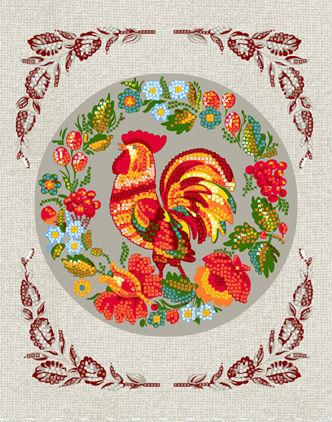 Полотенце кухонное Петушок 50х60Кухонные полотенца<br>Размер: 50х60<br><br>Высота: 2<br>Размер RU: 50х60