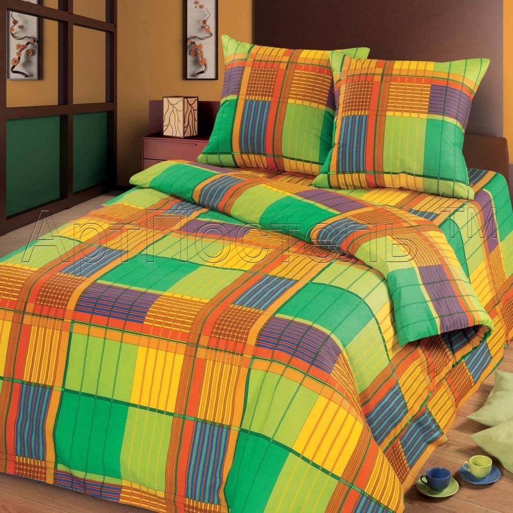 Постельное белье Ямайка (бязь) 2 спальный с Евро простынёй