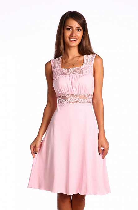 Ночная сорочка СильванаСорочки и ночные рубашки<br>Ночью женщина может выглядеть намного женственнее и привлекательнее, чем днем, если верно выберет одежду для сна.   Ночная женская сорочка Сильвана - это модель, которая точно стоит вашего внимания, потому что более изящной и женственной одежды для сна вы просто не найдете! Сорочка имеет подчеркивающий фигуру крой с расклешенной юбкой и украшена кружевными вставками, которые делают данную модель более чувственной.   А вискоза, которая была использована для пошива модели Сильвана, делает ее легкой и воздушной, чтобы вы с комфортом могли спать в сорочке даже самыми жаркими и душными летними ночами. Размер: 54<br><br>Принадлежность: Женская одежда<br>Основной материал: Вискоза<br>Страна - производитель ткани: Россия, г. Иваново<br>Вид товара: Одежда<br>Материал: Вискоза<br>Состав: 90% вискоза, 10% эластан<br>Длина рукава: Без рукава<br>Длина: 18<br>Ширина: 12<br>Высота: 7<br>Размер RU: 54