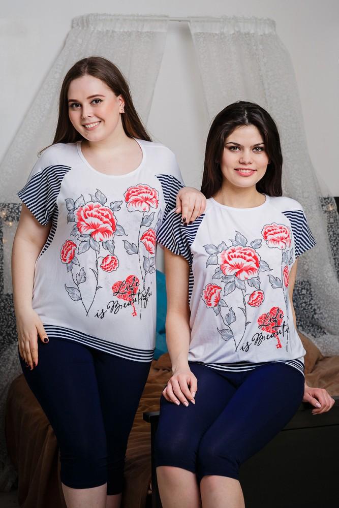 Блузка женская ЦветыБлузки<br>Размер: 64<br><br>Высота: 8<br>Размер RU: 64