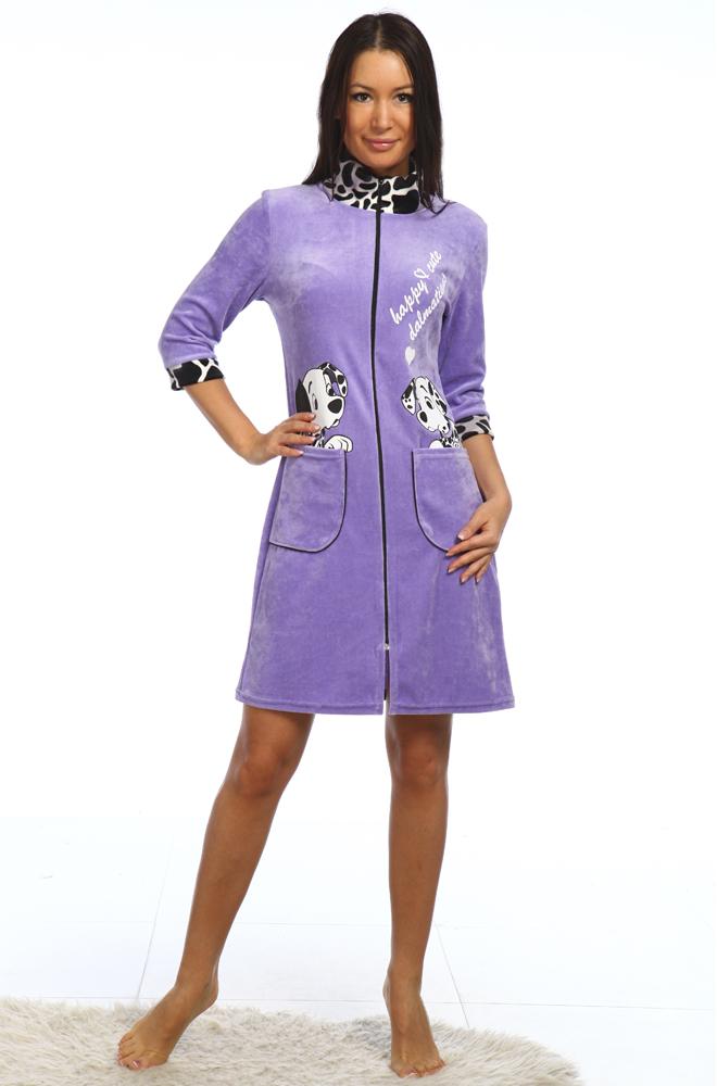 Халат женский ДалматинецТеплые халаты<br>Размер: 44<br><br>Высота: 11<br>Размер RU: 44