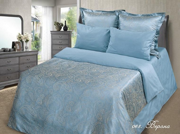 Постельное белье Верона (сатин-жаккард) 2 спальный с Евро простынёй