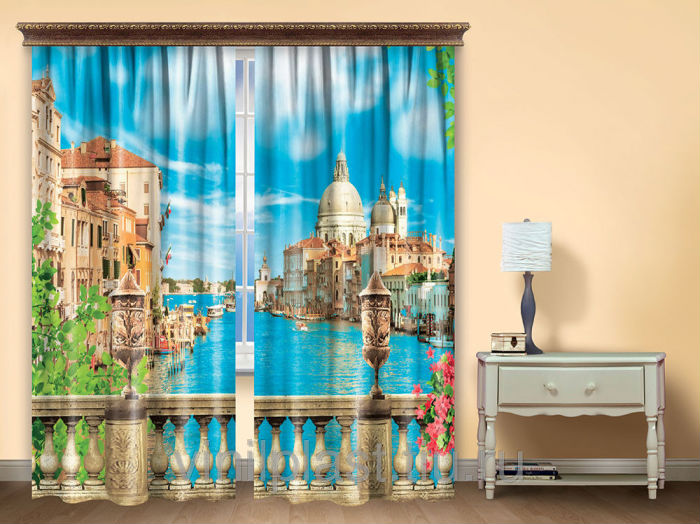 """Штора для гостиной """"Венеция"""" (упаковка 2 шт) 150х270"""