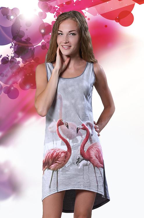 """Туника женская """"Розовый фламинго"""""""