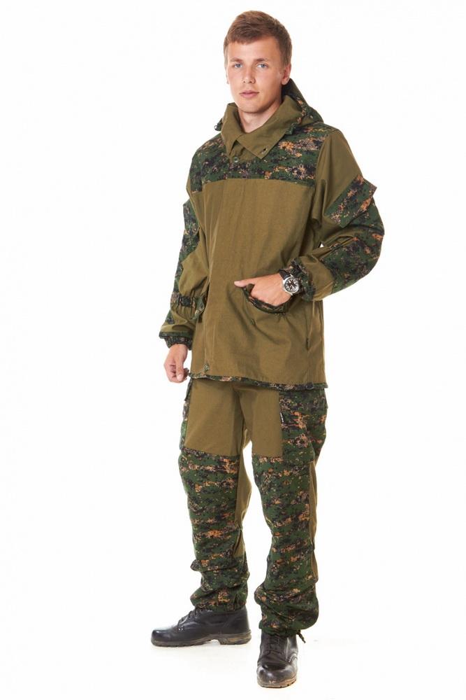 Костюм для охоты и рыбалки ГефестДля рыболовов<br>Качество костюма, предназначенного для отдыха на природе &amp;amp;mdash; будь то охота, рыбалка или любой другой вид времяпрепровождения &amp;amp;mdash; не должно вызывать сомнений. В конце концов, неизвестно, в каких условиях вы окажетесь, зная непостоянство погоды. Костюм для охоты и рыбалки Гефест - образец именно такого костюма.<br>Модель состоит из куртки и брюк, выполненных из материала палатки &amp;amp;mdash; прочной, износостойкой ткани с водоотталкивающими свойствами, который устойчив к ветру и тепловому воздействию. Отделка костюма представляет собой смесовую ткань, сочетающую лучшие качества натуральных и синтетических материалов. Куртка имеет прямой силуэт с центральной суппатной застежкой на пуговицах; двойной капюшон с козырьком надежно защищает от ветра и солнечных лучей. Низ рукавов для максимального удобства собран на резинку. Застежка брюк &amp;amp;mdash; на пуговицах; имеется усиление в области коленей, спереди &amp;amp;mdash; четыре кармана на пуговицах. Брюки регулируются по объему на уровне колен с помощью резинки; низ собран на резинку и дополнительной регулировкой в виде киперной ленты.<br>Если вы ищете подходящий костюм для активного отдыха на природе, обратите внимание на костюм для охоты и рыбалки Гефест. Максимально удобный крой, сочетающий в себе сдержанность и наличие всего необходимого, качественная плотная ткань, защищающая от непогоды, широкий размерный ряд &amp;amp;mdash; все это вы получите по оптимально выгодной цене! Размер: 48-50<br><br>Принадлежность: Мужская одежда<br>Основной материал: Палатка<br>Страна - производитель ткани: Россия, г. Родники<br>Вид товара: Одежда<br>Материал: Палатка<br>Сезон: Весна - осень<br>Тип застежки: Молния<br>Длина рукава: Длинный<br>Длина: 35<br>Ширина: 25<br>Высота: 15<br>Размер RU: 48-50