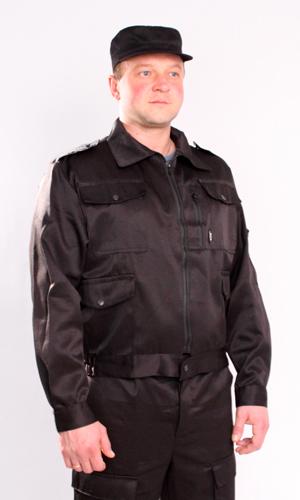 Костюм Святогор (черный)Для охранников<br>Костюм Святогор состоит из куртки и брюк. Куртка с центральной застежкой на никелированной молнии, на левой грудной полочке накладной карман с клапаном, на правой - карман с двойным входом: сбоку на молнии и сверху, прикрыт клапаном. Имеется два нижних прорубных кармана. Рукав втачной, длинный, на манжете. На правом рукаве накладной карман на никелированной молнии. Низ куртки на притачном поясе, по бокам стянут на эластичную тесьму. Брюки прямые, на притачном поясе с центральной застежкой на петли и пуговицы, с карманами с отрезным бочком, и накладными карманами с клапаном на передней части бедра. Размер: 44-46<br><br>Принадлежность: Мужская одежда<br>Основной материал: Грета<br>Страна - производитель ткани: Россия, г. Иваново<br>Вид товара: Одежда<br>Материал: Грета<br>Тип застежки: Молния<br>Состав: 80% полиэстер, 20% хлопок<br>Длина рукава: Длинный<br>Длина: 27<br>Ширина: 25<br>Высота: 8<br>Размер RU: 44-46