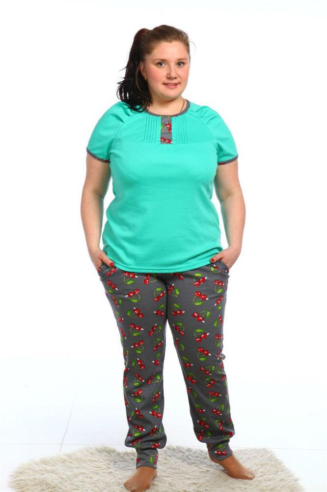 Пижама женская НилаПижамы<br>Разобравшись с обустройством спального места, необходимо подобрать и максимально комфортную одежду для сна. Например, женскую пижаму Нила с брюками и футболкой.<br>Интерлоку не свойственны выраженные лицевая либо изнаночная сторона, он полностью гладкий. В составе - натуральные хлопковые волокна, абсолютно безвредные при контакте с кожей. Защитная функция материала предотвращает перегрев либо переохлаждение. Среди плюсов - абсолютная неприхотливость и отсутствие сложной специфики ухода.<br>Пижама Нила представлена в цветовых вариациях, обеспечивающих выбор. Среди плюсов также приятная цена, радующая экономных покупательниц и сполна окупающаяся качеством.  Размер: 54<br><br>Принадлежность: Женская одежда<br>Комплектация: Брюки, футболка<br>Основной материал: Интерлок<br>Страна - производитель ткани: Россия, г. Иваново<br>Вид товара: Одежда<br>Материал: Интерлок<br>Состав: 100% хлопок<br>Длина рукава: Короткий<br>Длина: 18<br>Ширина: 12<br>Высота: 7<br>Размер RU: 54