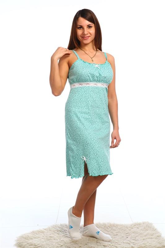 Ночная сорочка ОксинияСорочки и ночные рубашки<br>Любите выглядеть привлекательно и женственно? Предпочитаете носить изящные, элегантные и аккуратные вещи даже дома? Вам наверняка подойдет ночная сорочка Оксиния!<br>Легкая и невесомая кулирка создается из натурального хлопка, безопасного для аллергиков и чувствительной кожи. Петельное полотно легко восстанавливает форму и не деформируется при стирке, глажке, повседневной носке или в шкафу. Легкость и воздушность сочетаются с прочностью и износостойкостью.<br>Ночная сорочка Оксиния на бретелях с кружевной отделкой - это красота и практичность, которые сочетаются с доступной ценой.  Размер: 54<br><br>Принадлежность: Женская одежда<br>Основной материал: Кулирка<br>Страна - производитель ткани: Россия, г. Иваново<br>Вид товара: Одежда<br>Материал: Кулирка<br>Сезон: Лето<br>Состав: 100% хлопок<br>Длина рукава: Без рукава<br>Длина: 18<br>Ширина: 12<br>Высота: 7<br>Размер RU: 54