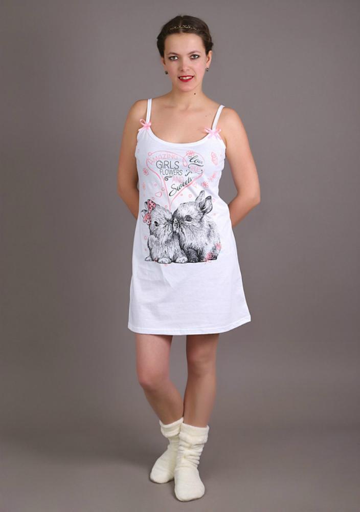 Ночная сорочка АвелияСорочки и ночные рубашки<br>Размер: 46<br><br>Принадлежность: Женская одежда<br>Основной материал: Кулирка<br>Вид товара: Одежда<br>Материал: Кулирка<br>Состав: 100% хлопок<br>Длина: 18<br>Ширина: 12<br>Высота: 7<br>Размер RU: 46