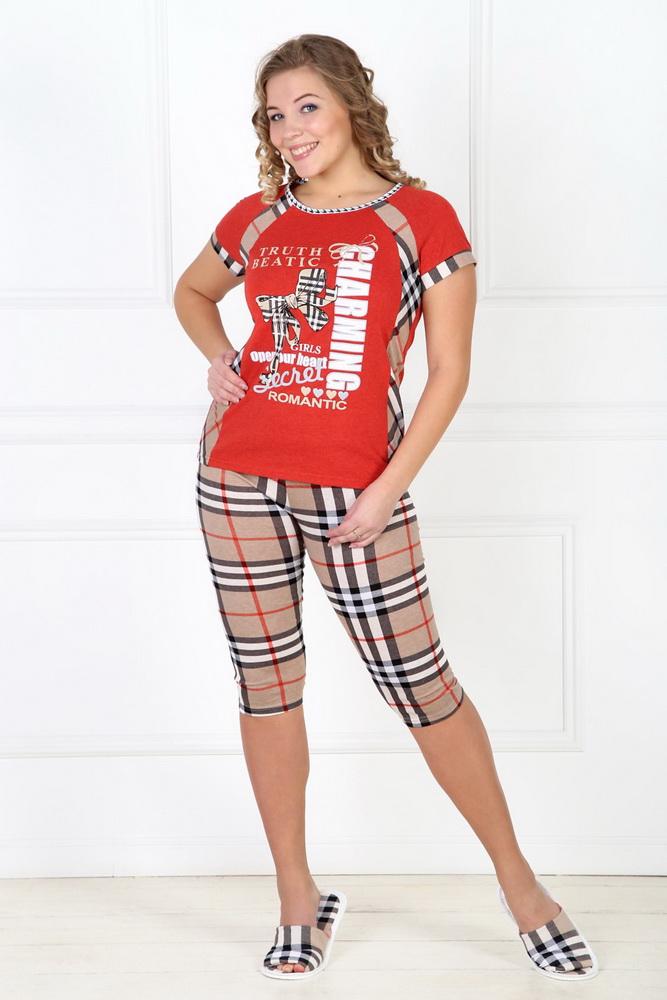 Пижама женская МарлисПижамы<br>Размер: 44<br><br>Принадлежность: Женская одежда<br>Комплектация: Бриджи, футболка<br>Основной материал: Кулирка<br>Страна - производитель ткани: Россия, г. Иваново<br>Вид товара: Одежда<br>Материал: Кулирка<br>Тип застежки: Без застежки<br>Состав: 100% хлопок<br>Длина рукава: Короткий<br>Длина: 18<br>Ширина: 12<br>Высота: 7<br>Размер RU: 44