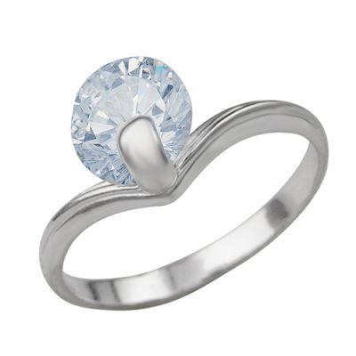Кольцо серебряное 238809бСеребряные кольца<br>Вес  2,34<br>Вставка  Фианит;<br>Покрытие  без покрытия Размер: 16.5<br><br>Высота: 3<br>Размер RU: 16.5