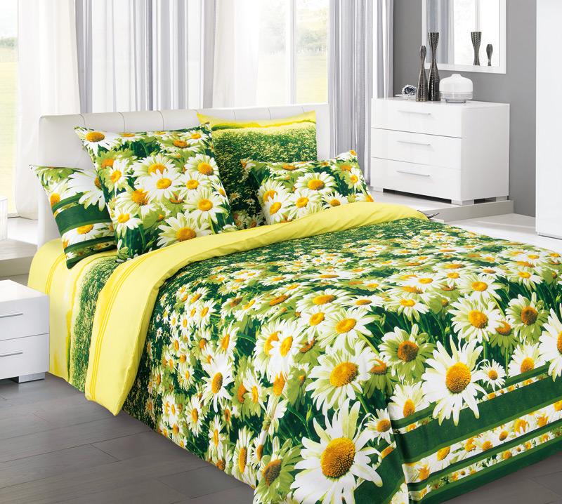 Постельное белье Простор желтый (бязь) 2 спальныйПРЕМИУМ<br>Ничто не может подарить с утра такое хорошее настроение, как цветы, особенно - в большом количестве. И если вы думаете, что поднимать себе каждое утро настроение цветами - это очень затратно, то посмотрите на комплект постельного белья Простор!  Ведь данный комплект сможет подарить вам сотни прекрасных ромашек, красота которых никогда не увянет. Сам же комплект постельного белья Простор желтый сшит из хлопкового материала, бязи, который имеет плотную текстуру с приятной поверхностью и очень стойкий окрас.  И в довершении всего спешим обрадовать вас тем, что комплект бязевого постельного белья Простор желтый обойдется вас в совсем незначительную сумму денег!<br>Упаковка:<br>ПВХ-пакет с цветным картонным вкладышем-пеналом Размер: 2 спальный<br><br>Высота: 8<br>Размер RU: 2 спальный