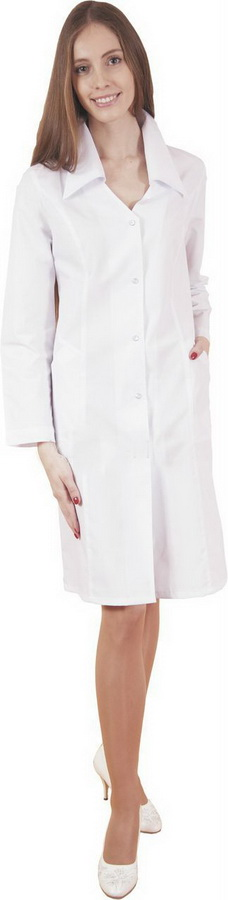 Халат медицинский ИринаДля врачей<br>Халат медицинский, застежка - пуговицы. Размер: 48<br><br>Принадлежность: Женская одежда<br>Основной материал: ТИСИ<br>Вид товара: Одежда<br>Материал: Тиси<br>Состав: 65% полиэстер, 35% хлопок<br>Длина: 18<br>Ширина: 12<br>Высота: 7<br>Размер RU: 48