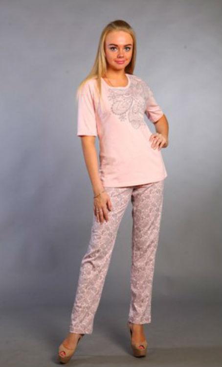 Пижама женская ЭвианаПижамы<br>Пижама женская брюки длинные, блуза-отделка печать « огурцы».  Размер: 54<br><br>Принадлежность: Женская одежда<br>Основной материал: Кулирка<br>Вид товара: Одежда<br>Материал: Кулирка<br>Состав: 100% хлопок<br>Длина: 18<br>Ширина: 12<br>Высота: 7<br>Размер RU: 54