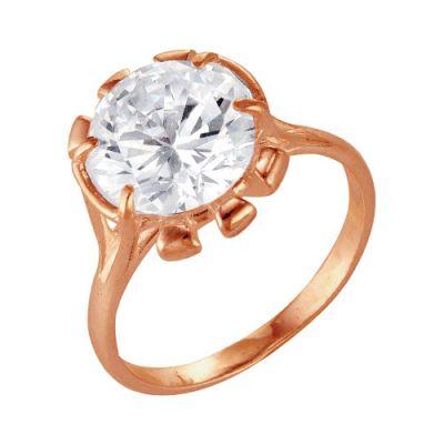 Кольцо серебряное 2386387Серебряные кольца<br>Вес  4,90<br>Вставка  Фианит<br>Покрытие  Золочение Размер: 18.5<br><br>Высота: 3<br>Размер RU: 18.5