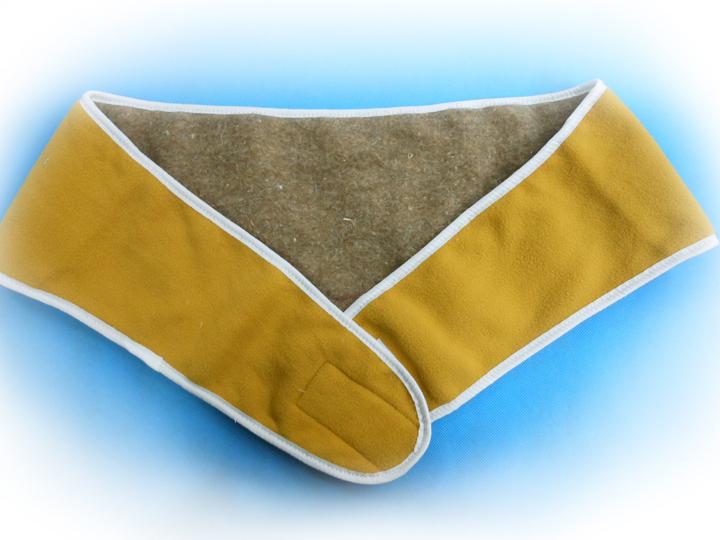 Пояс - мини из овечьего меха и флисаТекстиль для здоровья<br>Пояс из  шерсти, содержащей ланолин, способствует уменьшению болей в пояснице, согревает и расслабляет мышцы спины, облегчает боль при радикулите, артрите, остеохондрозе и просто снимает усталость. Размер: M (83-93 см)<br><br>Высота: 7<br>Размер RU: M (83-93 см)
