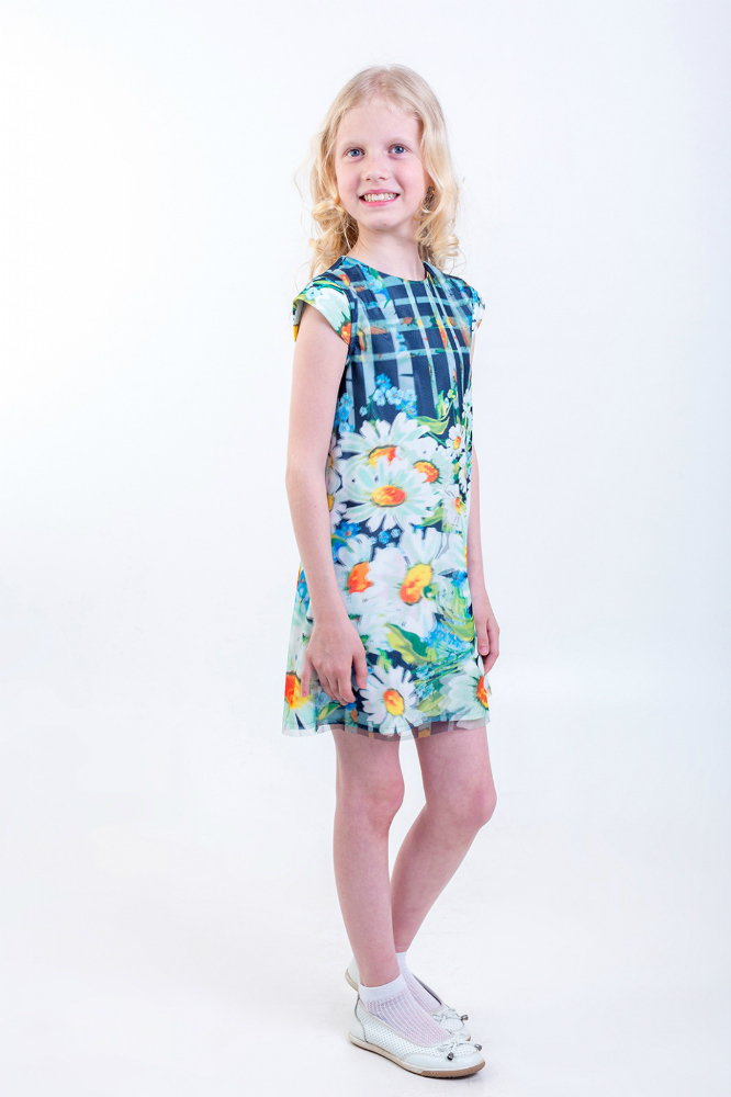 Платье детское РомашкиПлатья<br>Размер: 28<br><br>Высота: 3<br>Размер RU: 28