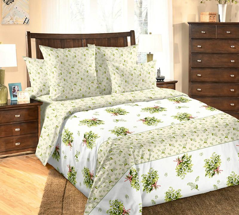 Постельное белье Ландыши (перкаль) 2 спальный с Евро простынёйПеркаль<br>Размер: 2 спальный с Евро простынёй<br><br>Высота: 9<br>Размер RU: 2 спальный с Евро простынёй