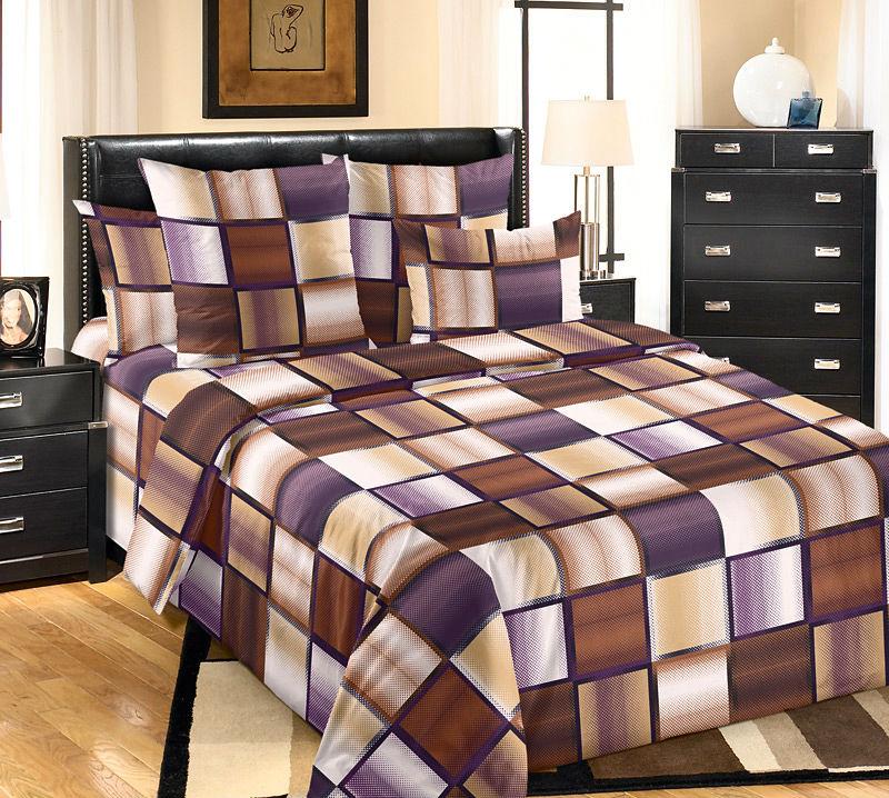 Постельное белье Техно коричневый (бязь) 2 спальныйПРЕМИУМ<br>Размер: 2 спальный<br><br>Высота: 8<br>Размер RU: 2 спальный