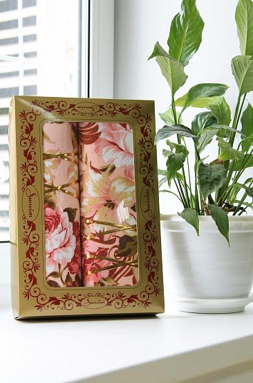 """Подарочный набор """"Цветочный рай"""" (2 полотенца)"""