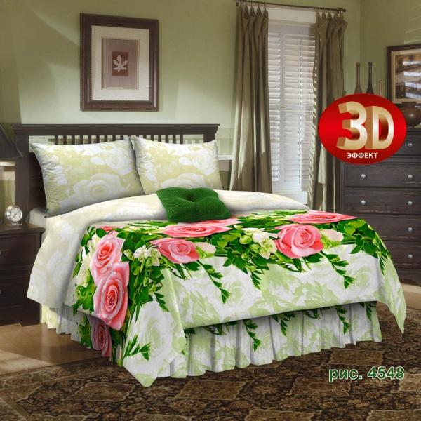 Постельное белье Блэкберн 3D (бязь) 2 спальныйПРЕМИУМ<br>Размер: 2 спальный<br><br>Высота: 8<br>Размер RU: 2 спальный