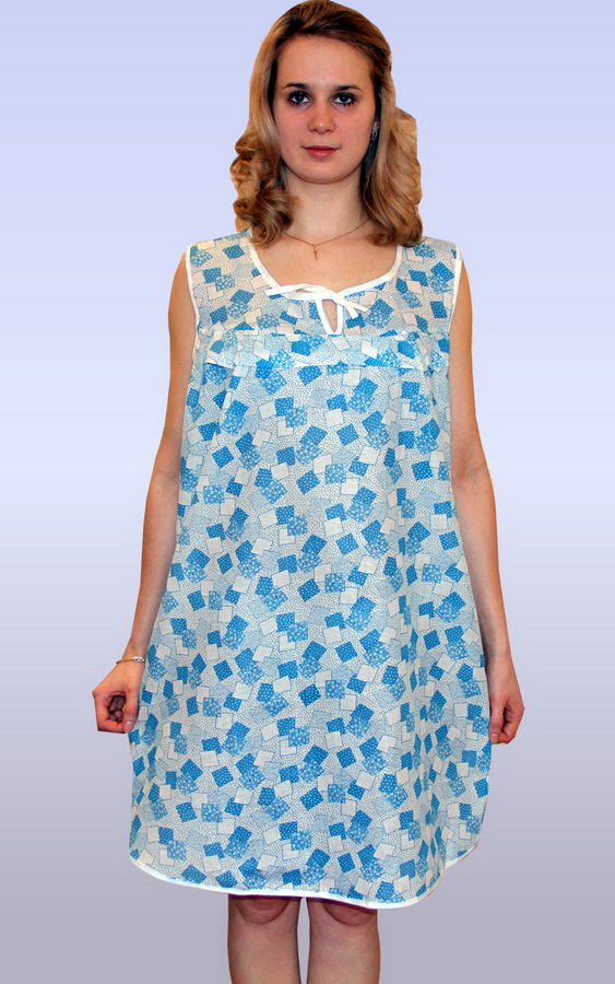 Ночная сорочка МальваСорочки и ночные рубашки<br>На комфорт ночного отдыха влияет множество факторов. Не последнее место среди них занимает одежда, которая должна быть просторной, свободной и удобной. К таким вещам относится ночная сорочка Мальва.<br>В основе - ситец, для изготовления которого используются натуральные хлопковые волокна. Он идеален для аллергиков и чувствительной кожи, не провоцируя нежелательных реакций. Материал экологичен, безопасен и неприхотлив.<br>Яркая и изящная, ночная сорочка Мальва долго не блекнет и не выцветает. Ситец не требует обязательной глажки после стирки. А доступная стоимость укладывается в скромный бюджет.  Размер: 48<br><br>Принадлежность: Женская одежда<br>Основной материал: Ситец<br>Страна - производитель ткани: Россия, г. Иваново<br>Вид товара: Одежда<br>Материал: Ситец<br>Состав: 100% хлопок<br>Длина рукава: Без рукава<br>Длина: 18<br>Ширина: 12<br>Высота: 7<br>Размер RU: 48