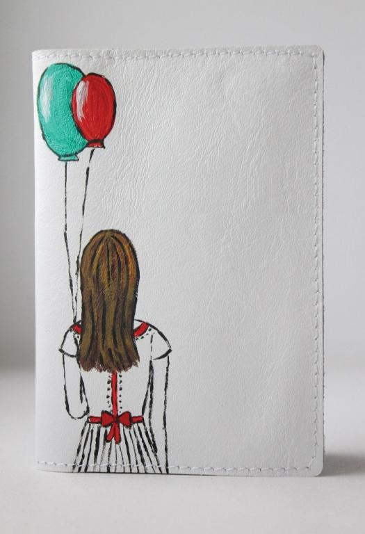 """Обложка для паспорта """"Девочка с шариками"""""""