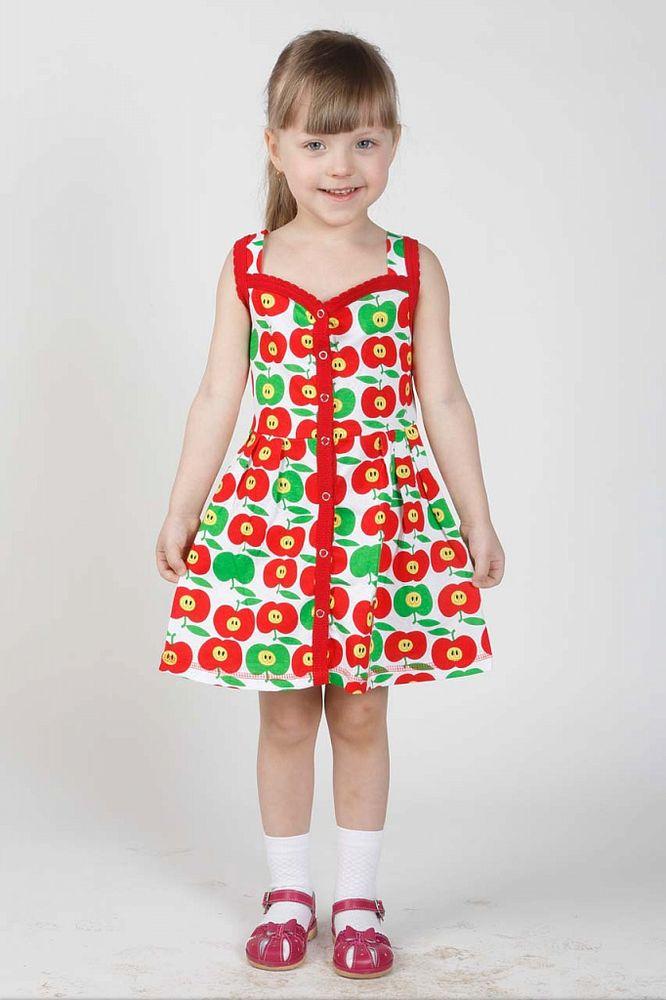 Сарафан халат кнопки (кулирка)Сарафаны<br>Пусть ваша подрастающая дочурка берет пример со своей мамы и дома носит одежду не менее красивую, чем за его пределами.<br>Данный халат-сарафан на кнопках - это удивительно красивая модель для маленькой модницы и маминой помощницы! Халат имеет прямой силуэт и распашную юбку средней длины, а также толстые бретели. Помимо яркой расцветки, он имеет отделку оборкой на бретелях и полочках.<br>Материал халата состоит из хлопкового волокна, он одновременно сочетает в себе мягкую поверхность и очень плотную текстуру, поэтому девочка будет носить его с комфортом, а в чистке он не доставит хлопот.  Размер: 30<br><br>Высота: 2<br>Размер RU: 30