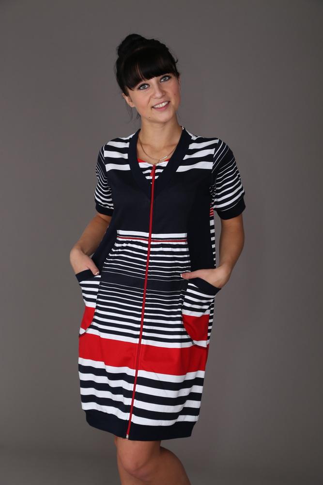 Халат женский ЧеритаЛегкие халаты<br>Данный халат является большемеркой на размер. Учитывайте это при выборе размера. Размер: 48<br><br>Принадлежность: Женская одежда<br>Основной материал: Интерлок<br>Страна - производитель ткани: Россия, г. Иваново<br>Вид товара: Одежда<br>Материал: Интерлок<br>Тип застежки: Молния<br>Длина рукава: Короткий<br>Длина: 19<br>Ширина: 17<br>Высота: 9<br>Размер RU: 48