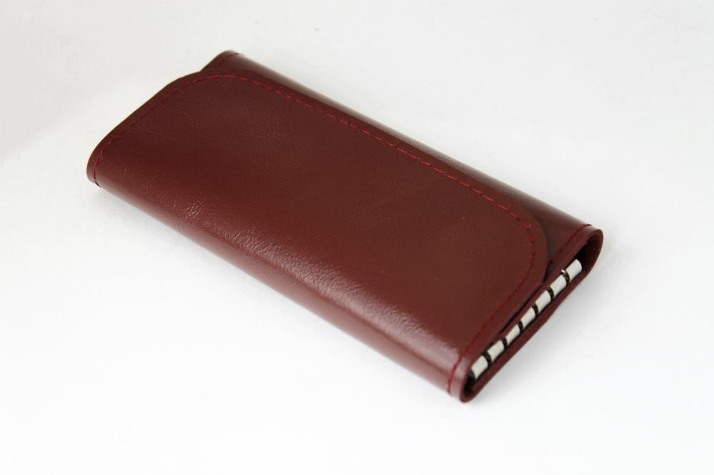 Ключница кожаная Рокси 6 ключей (малиново-коричневая)Ключницы<br><br><br>Высота: 2