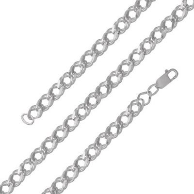 Цепочка бижутерия МРДГ2 (серебрение) 50Бижутерия<br>Артикул  МРДГ2 <br>Покрытие  -Серебрение<br>Размерный ряд  -17, 18, 19, 20, 21, 22, 40, 45, 50, 55, 60, 65<br>Ширина изделия: 5 мм Размер: 50<br><br>Принадлежность: Драгоценности<br>Основной материал: Бижутерный сплав<br>Страна - производитель ткани: Россия, г. Приволжск<br>Вид товара: Бижутерия<br>Материал: Бижутерный сплав<br>Покрытие: Серебрение<br>Вставка: Без вставки<br>Габариты, мм (Длина*Ширина*Высота): Длина изделия*6*3<br>Вид плетения: Ромб двойной граненый<br>Длина: 5<br>Ширина: 5<br>Высота: 3<br>Размер RU: 50