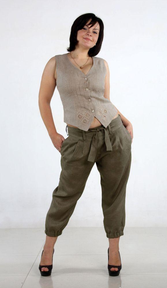 Бриджи льняные модель ГабриэлаБриджи<br>Стильные льняные бриджи - одна из тех вещей, которая сделает ваше лето ярким и наполнит его комфортом, поэтому поспешите познакомиться с моделью Габриэла!   Лен, из которого сшиты данные бриджи, - это материал, обладающий множеством свойств, которые делают одежду изо льна идеальной для носки летом: гипоаллергенность и экологичность, высокая воздухопроницаемость и гигроскопичность и т.д. При этом женские бриджи Габриэла отличаются модным дизайном и интересным фасоном.   И еще одно, но далеко не самое последнее достоинство данных женских бриджей заключается в том, что при своем высоком качестве и оригинальном дизайне они имеют вполне приемлемую цену.   Размер: 46<br><br>Принадлежность: Женская одежда<br>Основной материал: Лен<br>Вид товара: Одежда<br>Материал: Лен<br>Длина изделия: 81 см<br>Длина: 18<br>Ширина: 12<br>Высота: 7<br>Размер RU: 46