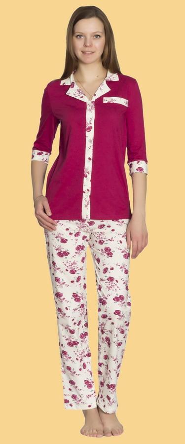 Пижама женская ГвинетПижамы<br>В поисках яркой, но лаконичной и сдержанной одежды для сна непременно стоит обратить внимание на модную женскую пижаму Гвинет!<br>Материал - кулирка, особенность которой в сочетании тонкого плетения с отменной прочностью. За счет своей фактуры вещи отлично садятся по фигуре, а затем - восстанавливают форму. Еще одно неоспоримое преимущество кулирки - дешевизна, никак не влияющая на качество материала.<br>Особенность женской пижамы Гвинет - интересный крой, благодаря которому она напоминает обычный повседневный наряд. Такой комплект - отличный выбор для тех, кто не любит классические пижамы.  Размер: 60<br><br>Принадлежность: Женская одежда<br>Основной материал: Кулирка<br>Страна - производитель ткани: Россия, г. Иваново<br>Вид товара: Одежда<br>Материал: Кулирка<br>Сезон: Лето<br>Тип застежки: Пуговицы<br>Длина рукава: Средний<br>Длина: 18<br>Ширина: 12<br>Высота: 7<br>Размер RU: 60