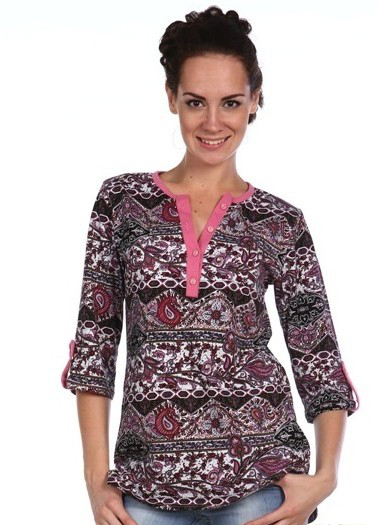 Рубашка женская НинаРубашки<br>Размер: 48<br><br>Высота: 7<br>Размер RU: 48