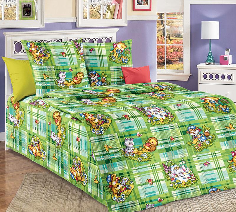 Постельное белье Затейники (бязь) 1,5 спальныйДетские КПБ<br>Размер: 1,5 спальный<br><br>Высота: 7<br>Размер RU: 1,5 спальный