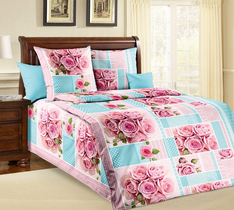 """Постельное белье """"Прекрасная роза"""" (бязь) 1,5 спальный"""