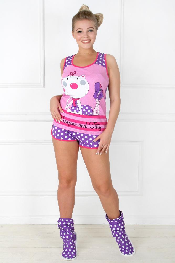 Пижама женская БоняПижамы<br>Размер: 40<br><br>Высота: 7<br>Размер RU: 40