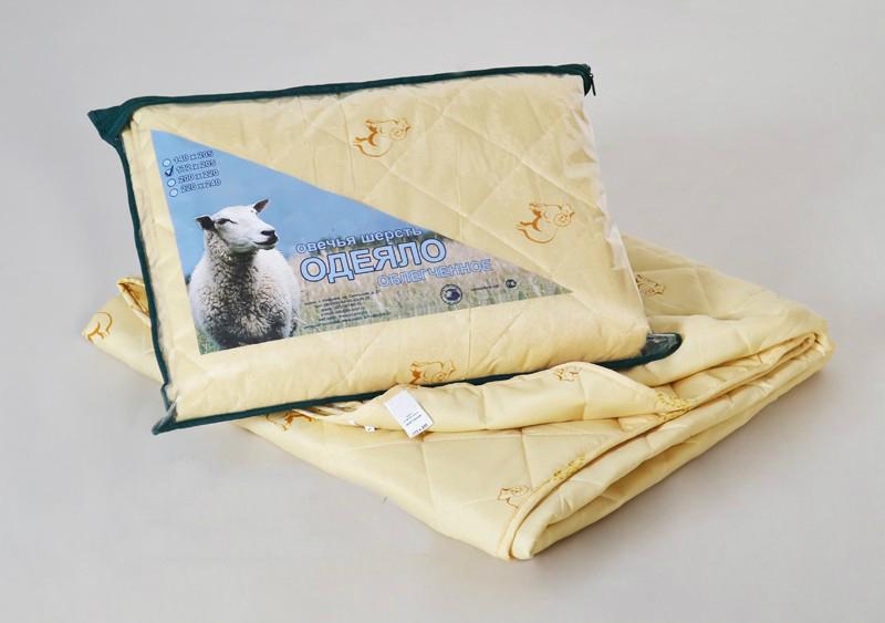 """Одеяло облегченное """"Весенний день"""" (овечья шерсть, полиэстер) (2 спальный (172*205))"""