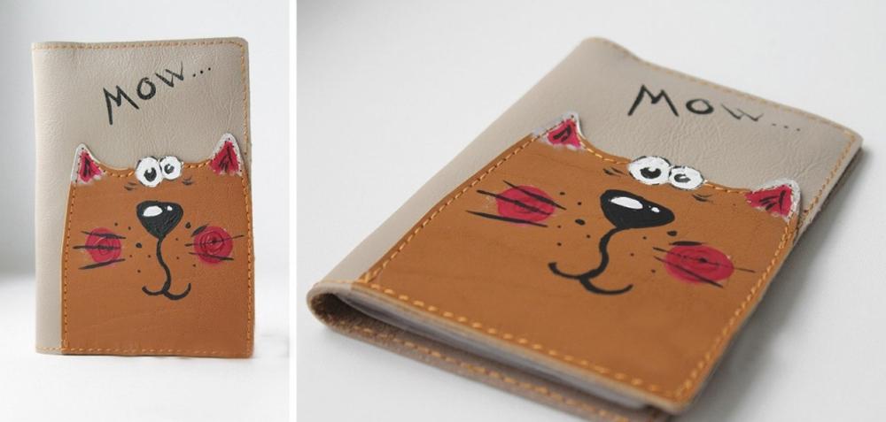 """Обложка для паспорта """"Рыжий кот"""""""